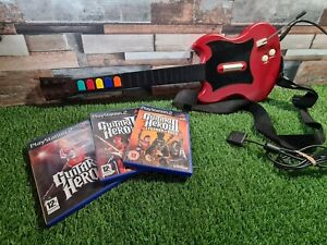 Guitar Hero PS2 Red Octane Gibson Controller & GH 1, 2 and 3 complete