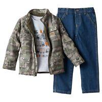 NWT Boys 24M BOYS ROCK 3pc Army Jacket Tee and Pants Set CUTE ~ L@@K!