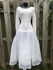 Amazing 1980's Tulle And Lace Fit N Flare Party Dress S/M