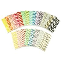 Paper Drinking Straws x 25 Eco Environment Disposable Wedding Party Smoothie