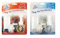 Plug In Air Freshener Diffuser Berry Fresh Linen Scented Home Fragrance Set