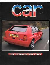 "LANCIA INTEGRALE, Porsche 911 & ELAN road test/confronto AUTO ""brochure"" FEB.1992"