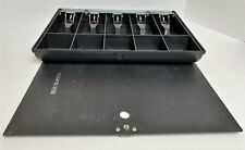 Cash Drawer Insert Money Tray Till With Metal Cover NO Key 5 Bills and 5 Coins