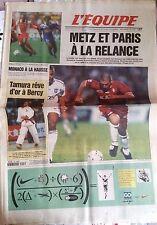 L'Equipe Journal 8/10/1997; Metz et Paris à la relance/ Tamura rêve d'or à Bercy