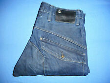 Genuine G-Star Raw 3301 - W32 L32 - Mens Blue Denim Jeans - Button-Fly - G307