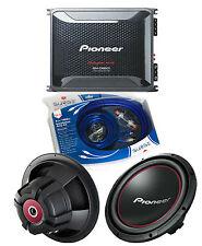 """Pioneer GM-D8601 Amplifier w/ 2 TS-W304R 12"""" Subwoofers & 4Ga Amp Kit"""