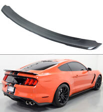 Fit 2015-17 Ford Mustang GT350 Style Black Carbon Fiber Rear Trunk Spoiler Wing