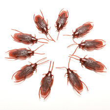 10 x Joke Cockroach Bug Funny Prank Novelty Life Like Fake Plastic Toy Trick HL