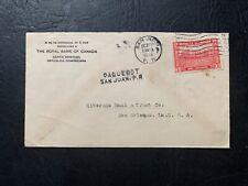 1928 Dominican Republic 2c San Juan Puerto Rico Paquebot ! Ship Cover to Us L@K
