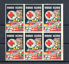 NORWAY 6 x POSTER STAMP - RED CROSS -IMPERF -** MNH VF @2
