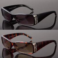 Women Bifocal Vision Reader Reading Glasses Sunglasses Black Smoke or Brown Lens