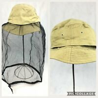J Hats Tan Beekeeper Camping Mosquito Bug Repellent Retractable Net Hat NWOT New