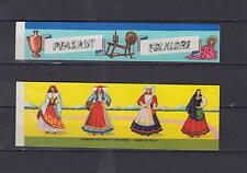 Etiquette BOITE RONDE  allumettes Italie  Femmes Folklore  Costumes