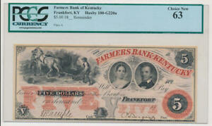 Farmers Bank of Kentucky $5 Bank Note PCGS 63 Choice New