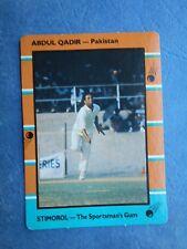 SCANLENS STIMOROL 1988/89 CRICKET CARD - Abdul Qadir # 126 (Pak)