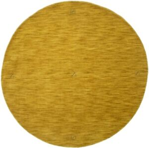 Solid Gold Hand-Loomed Contemporary 6X6 Oriental Modern Round Rug Decor Carpet