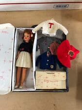 Vintage Tammy Doll with Cheerleader Outfit Sweater Skirt Ideal Baton Shoes Case