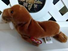 """Ty Beanie Baby ~ Paul 8"""" Walrus ~ New with Tags Retired with Pe Pellets"""