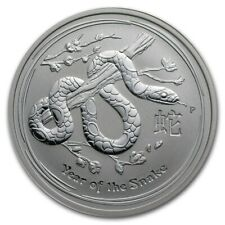 2013 Australia Silver Lunar Snake - 1 oz Coin $1  ~ Perth Mint  ~ From mint roll