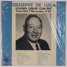 GIUSEPPE DE LUCA: Golden Jubilee Concert 1947 Shrink VINYL LP