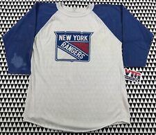 Vintage New York RANGERs 3/4 Sleeve T-Shirt S Small 70s 80s SOFT/THIN Raglan