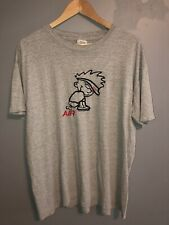Vintage 90's Calvin And Hobbes Nike Bootleg Size Extra Large Paper Thin