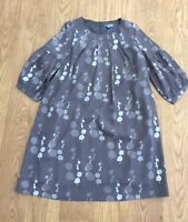 NEW Girls All Occasion Dress. Grey all over print. 12 years.