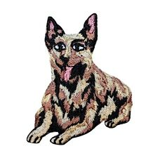 ID 2748 German Shepherd Dog Working Animal Embroidered Iron On Applique Patch