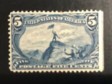 MINT US STAMP #288 5 Cent Trans-Mississippi Expo Issue 1898 Hinged FREMONT