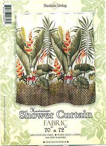 Hawaiian Tropical Fabric Shower Curtain (Hawaiian Flower)