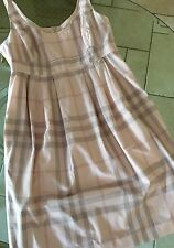Robe burberry T 46 FR tartan Rose Pâle Tbe