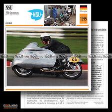 #079.01 NSU 250 SPORTMAX 1955 Racin Bike Fiche Moto Motorcycle Card