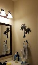 16 Inch Tall Metal Two Palm Tree Black Iron Wall Art Home Decor Beach Decoration
