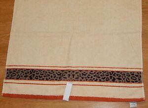 MODERN ARTISTRY BATH TOWEL 28x54 LEOPARD BORDER 100% COTTON NEW AUTHENTIC