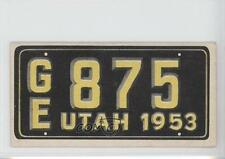 1953 Topps License Plates #39 Utah Non-Sports Card 0s4