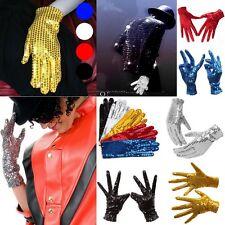 Adults Kids Unisex Sequin Sequined Glitter Gloves Dancer Fancy Dress Costume New