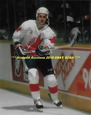 DOUG GILMOUR In ACTION 1987 CANADA CUP 8x10 Photo ST LOUIS BLUES HOF GREAT WoW