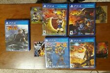 Jak and Daxter, II, 3, X Combat Racing, IV case + cards PS4 lot