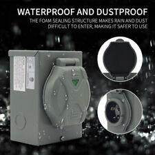 Outdoor Use Rv 30 Amp Generator Power Inlet Box With Led Light Nema L5 30p 125volt