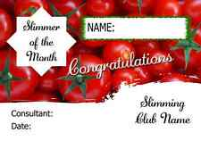 Tomatoes Slimmer Of The Month Personalised Diet Certificate