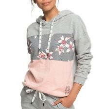 3f3dc179d4 ROXY Charcoal Heather Flower Field Inside Cocoon Womens Hoody