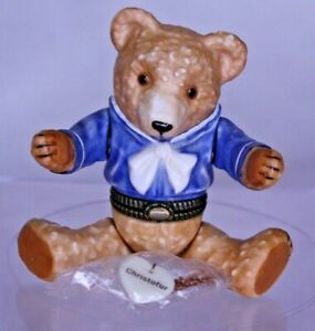 Porcelain Hinged Box Midwest Cannon Falls - Sailor Teddy Bear with Christofur P