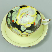 PARAGON HAND PAINTED FLORAL BONE CHINA TEA CUP & SAUCER 1950's