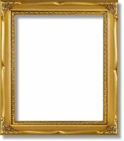 Solid Wood Poster Frame 16x20 Gold Border 322