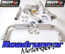 """MILLTEK SSXVW173 GOLF GTI MK6 3"""" Turbo Indietro Da Corsa Di Scarico & DECAT PORTA POSTERIORE"""