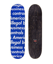 Supreme Ss18 Illegal Business Controls America Blue Skateboard Deck
