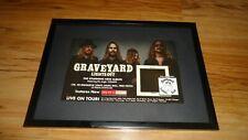 GRAVEYARD lights out-framed original press release promo advert