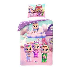 Cry Babies Set Bed Cotton Duvet Cover 55 1/8x78 11/16in Original Bag Purple