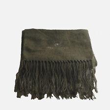 Genuine Brushed Olive Green Alpaca Wool Scarf Hand Made in Ecuador & Peru