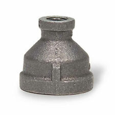 """1"""" to 3/4"""" BLACK MALLEABLE IRON REDUCING COUPLING fitting reducer coupler npt"""